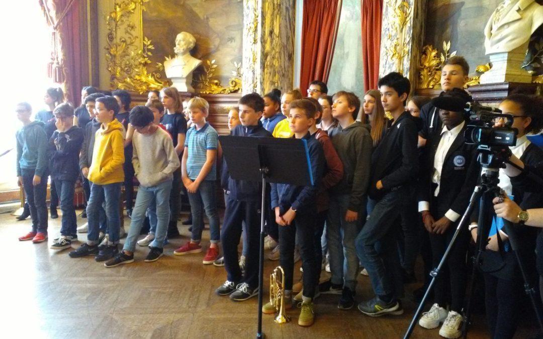 La chorale à l'Opéra comique de Paris