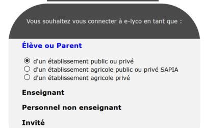 Comment accéder à son environnement E Lyco? sa boite mail E Lyco?